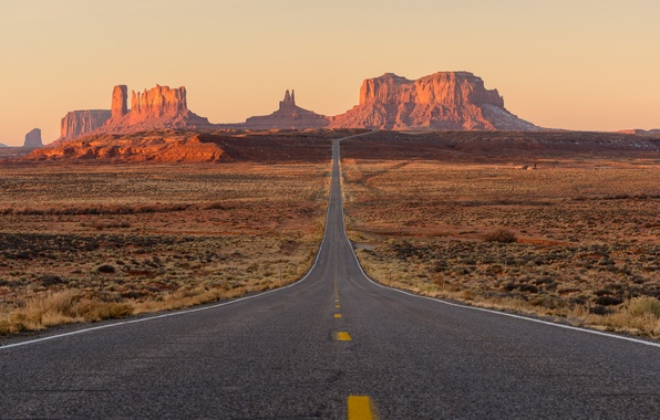 Picture road, rocks, desert, USA, Monument Valley, UTAH