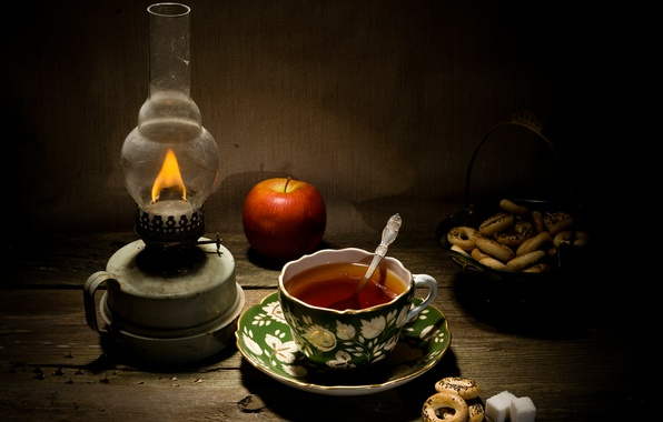 Picture comfort, tea, lamp, sugar, drying, Mac