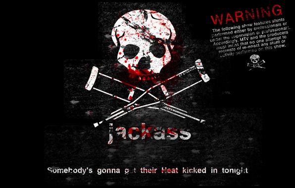 Picture blood, skull, phrase, Cranks, crutches