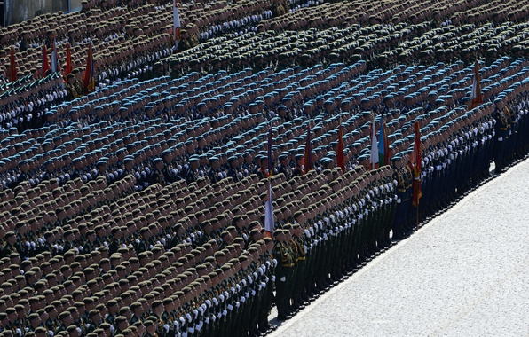 Picture the city, holiday, victory day, soldiers, Moscow, parade, Stroy, red square
