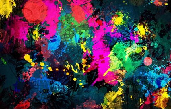 Picture color, paint, bright, the building, divorce, architecture, shape, Paint Background