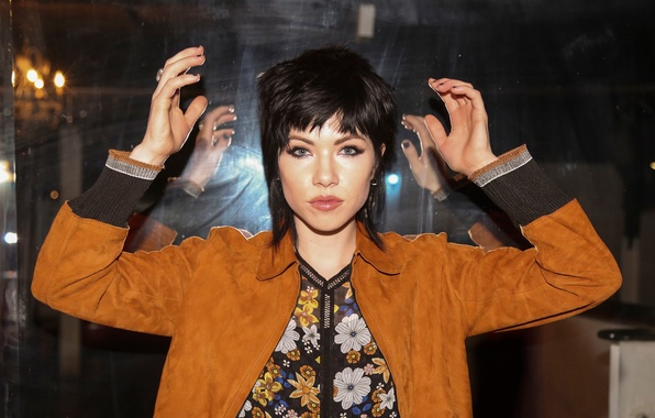 Picture girl, pose, brunette, jacket, hairstyle, singer, photoshoot, the website, Carly Rae Jepsen, Carly RAE Jepsen, …