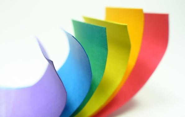 Picture macro, paper, color, rainbow