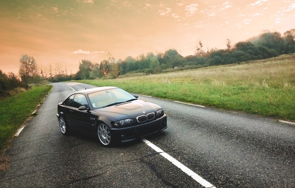 Picture Road, BMW, BMW, E46, Road