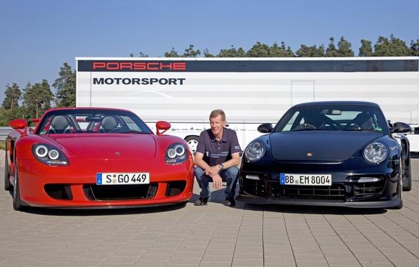 Picture background, 911, Porsche, Porsche, Carrera GT, supercars, racing driver, Carrera GT, Walter Röhrl, Walter Röhrl