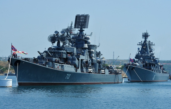 Picture ship, ships, large, Moscow, Navy, Russia, cruiser, rocket, anti-submarine, Kerch, guards