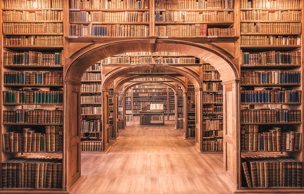 Wallpaper wood, books, library images for desktop, section ...