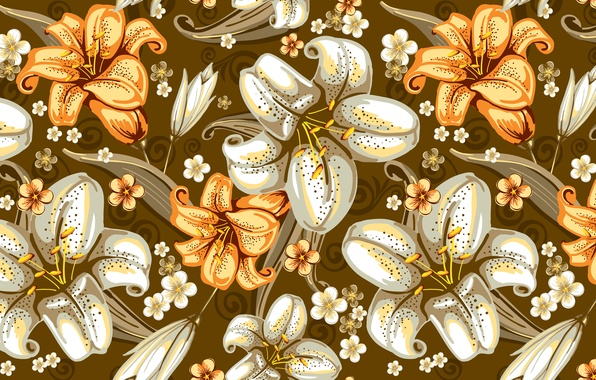 Picture flowers, pattern, texture, seamless texture
