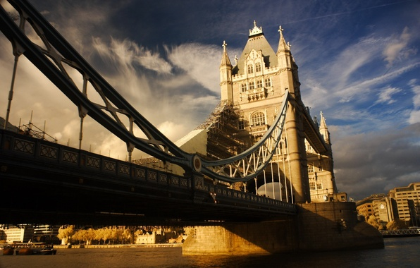 Picture the sky, clouds, bridge, river, photo, England, England, TowerBridge