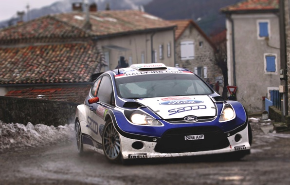 Picture Ford, Auto, The city, Sport, Turn, Race, Asphalt, The hood, WRC, the front, Rally, Rally, …