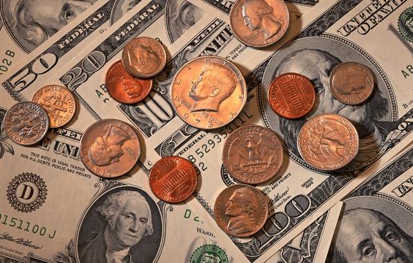 Picture Eagle, Benjamin Franklin, Washington, money, dollars, coins