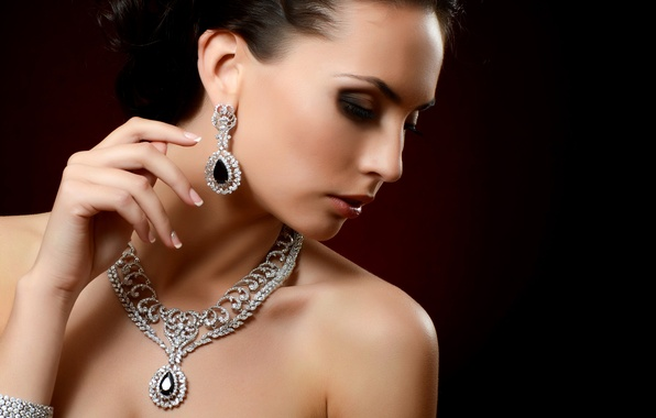 Picture girl, model, earrings, makeup, hairstyle, profile, bracelet, decoration, suspension