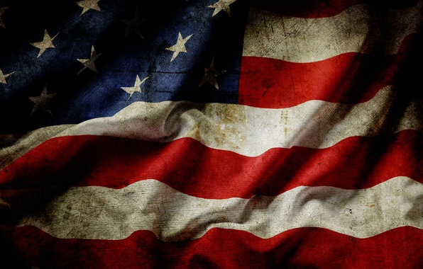 Picture red, USA, white, blue, stars, flag