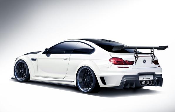 Picture tuning, BMW, BMW, white, white, rear, kit, 6 Series, CLR 6 M, Lumma Design