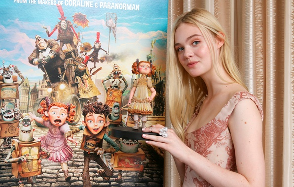 Picture Elle Fanning, press conference, El Fanning, The Boxtrolls, The boxtrolls