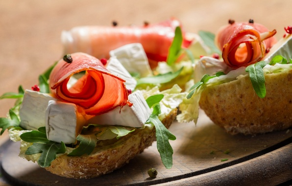 Picture cheese, bread, sandwich, appetizer, ham