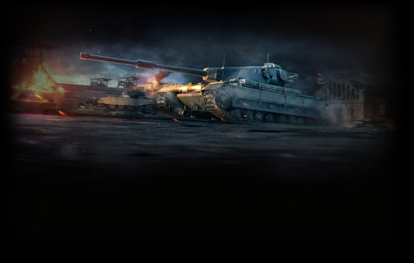 Picture England, art, tank, UK, WoT, World of Tanks, Conqueror
