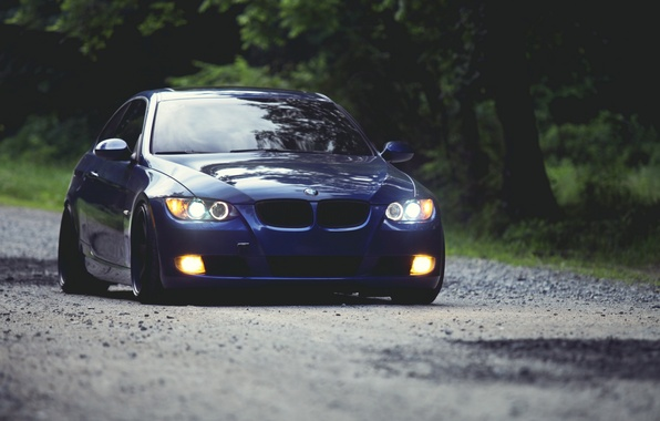 Picture BMW, the evening, bmw 3 series