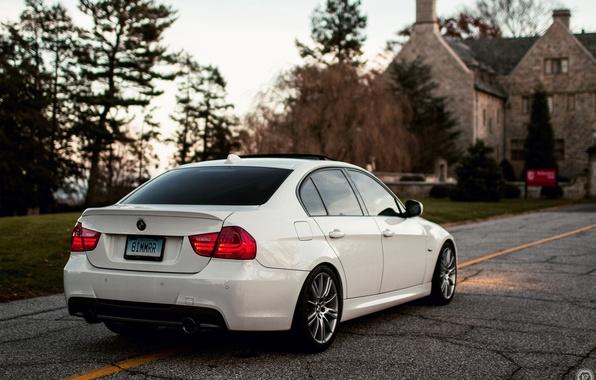 Picture white, BMW, BMW, white, sedan, E90, The 3 series