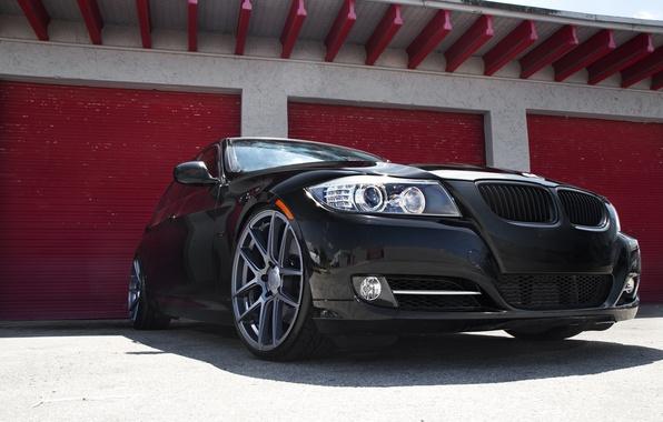 Picture black, BMW, BMW, black, E90, The 3 series
