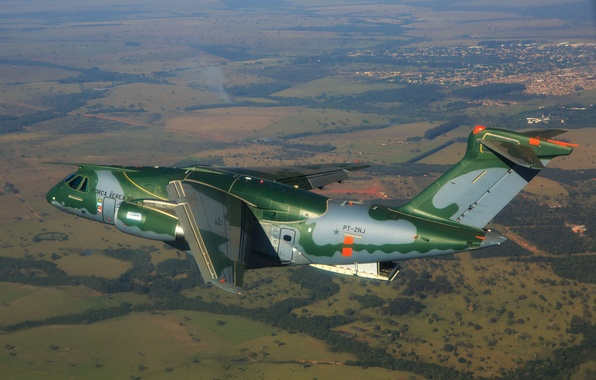 Photo wallpaper KC-390, FAB, Embraer, Brazilian Air Force, Force Air Brazilian, military aircraft
