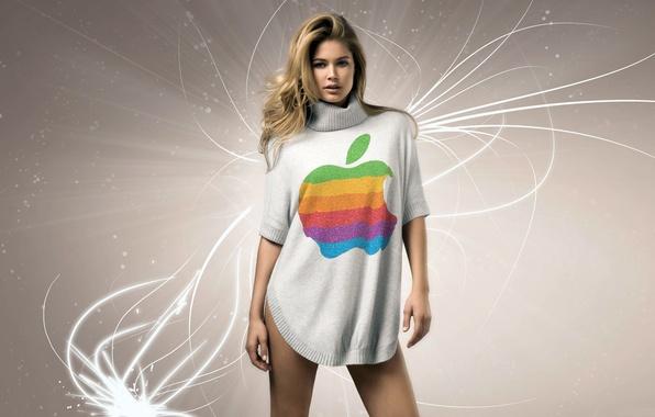 Picture apple, mac, Doutzen Croesus