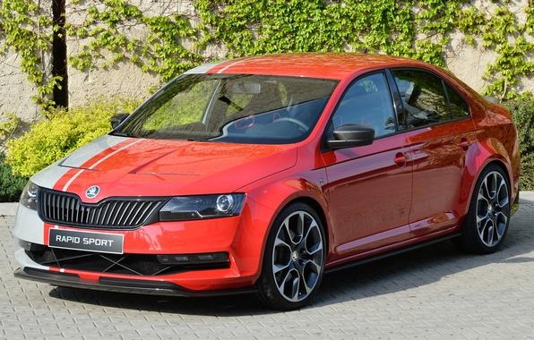 Picture Concept, the concept car, the front, Skoda, Skoda, rapid sport, Rapid Sport