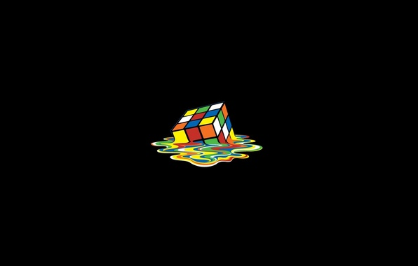 Picture color, Rubik's cube, melting