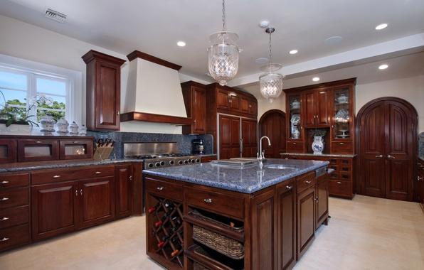 Picture photo, Design, Table, Lamp, Kitchen, Interior