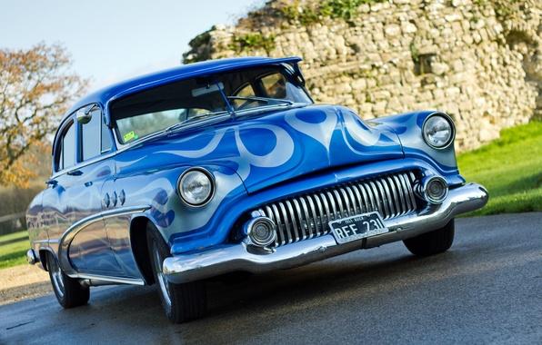 Picture retro, car, classic, the front