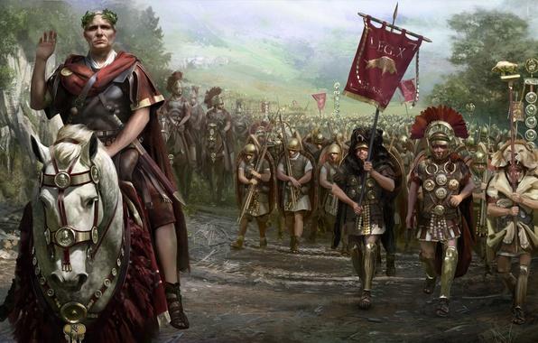 Picture Total War, Army, Background, Legion, DLC, Legionnaires, Video Game, Infantry, Total War: Rome 2, Legio, …