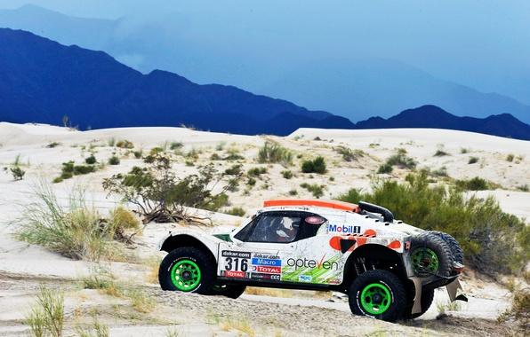 Picture Sand, Auto, White, Sport, Machine, Race, Rally, Dakar, Dakar, Rally, Side view, 2014, Buggy