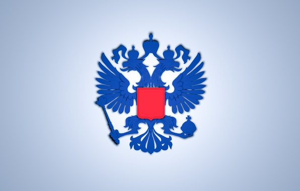 Picture Wallpaper, flag, eagle, Russia, coat of arms