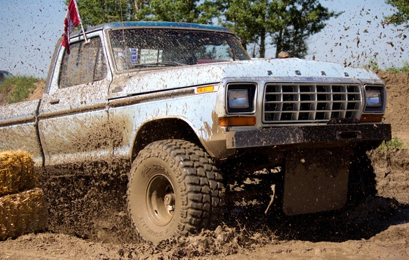 Picture squirt, dirt, the roads, bumper, rally, wheel, the competition, Ford F-250 Ranger, full-size pickup truck, …