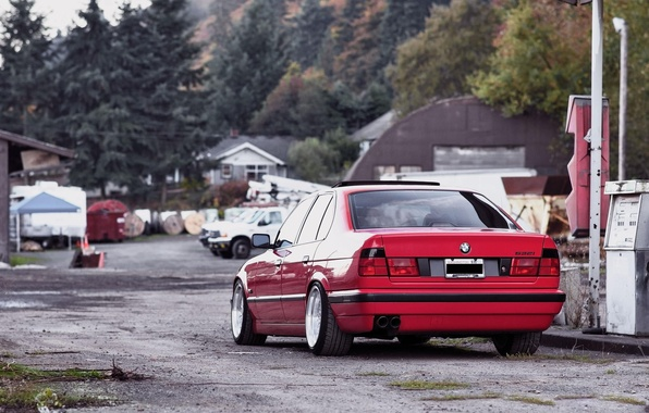 Picture BMW, red, tuning, E34, 532i