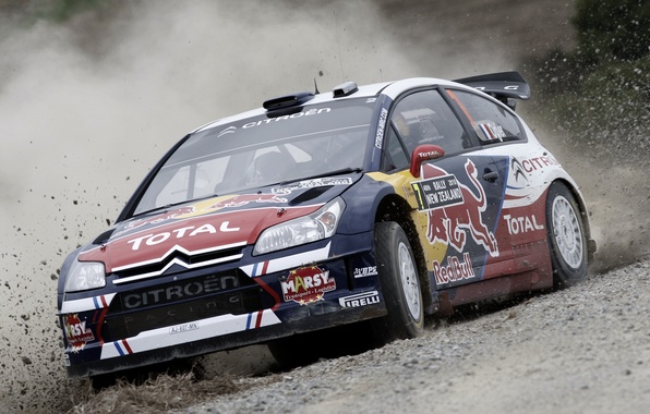 Picture Auto, Speed, Race, Skid, Citroen, Lights, Rally, The front
