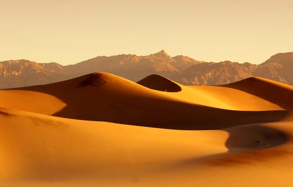 Picture sand, the sky, the dunes, desert