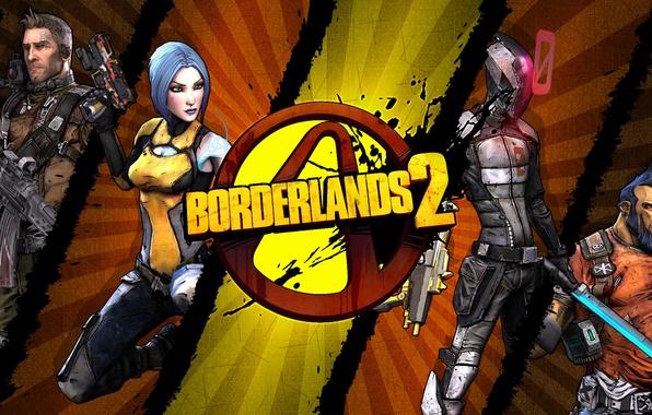 Picture logo, Maya, RPG, 2K Games, Borderlands 2, Gearbox Software, Zer0, Unreal Engine 3, Salvador, Axton, …