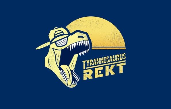 Picture dinosaur, minimalism, roar, T-Rex, Tyrannosaurus