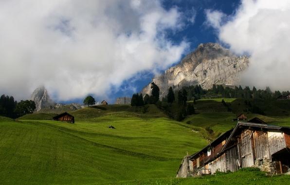 Picture landscape, autumn, mountain, alps, switzerland