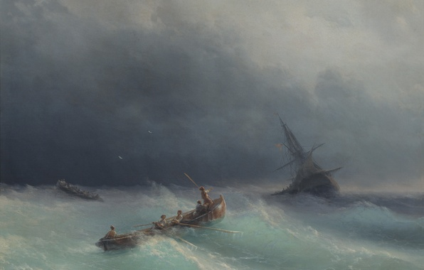 Picture Sea, Storm, Picture, Painting, Aivazovsky