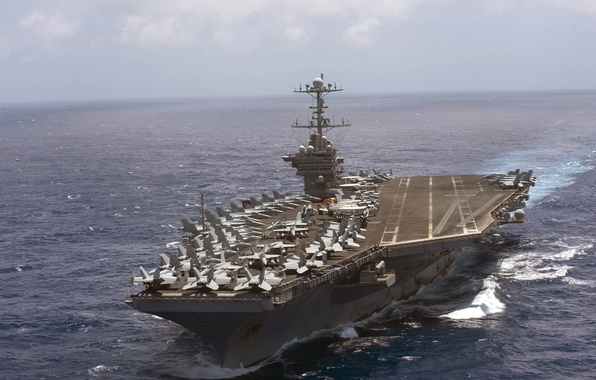 Picture sea, weapons, USS Harry S. Truman, aircraft carrier, CVN 75