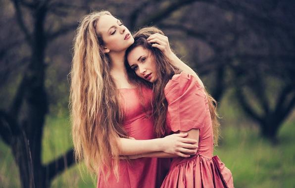 Picture love, two girls, JOY, Marina Hakobyan, Victoria Gmira, Evgeny Sokolov