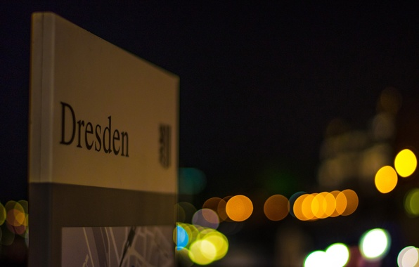 Picture night, the city, lights, Germany, Dresden, Germany, Dresden, bokeh, Germany