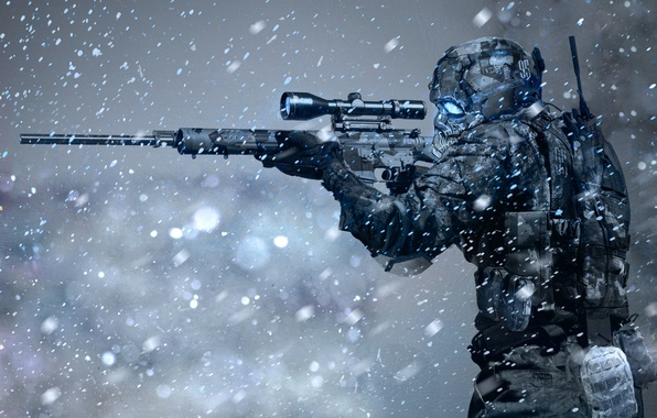 Picture snow, weapons, storm, sniper, rifle, Arctic
