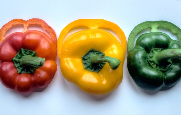 Picture red, yellow, traffic light, green, pepper