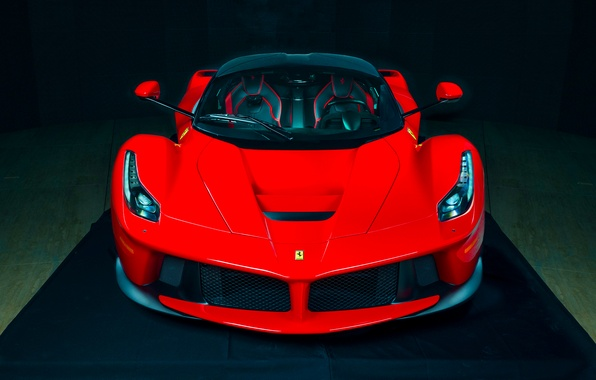 Picture Ferrari, Red, Hot, Power, Front, Color, Supercar, LaFerrari