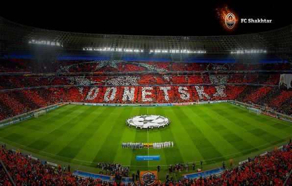 Picture Field, Orange, Ukraine, Donetsk, Miner, Stadium, Manchester United, Performance