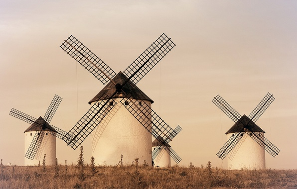 Picture landscape, Spain, windmill