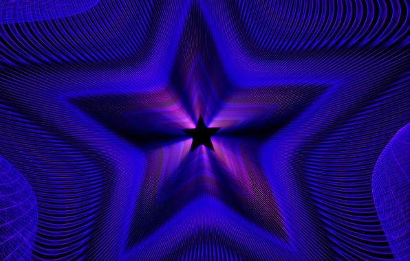 Picture light, line, star, color, symmetry